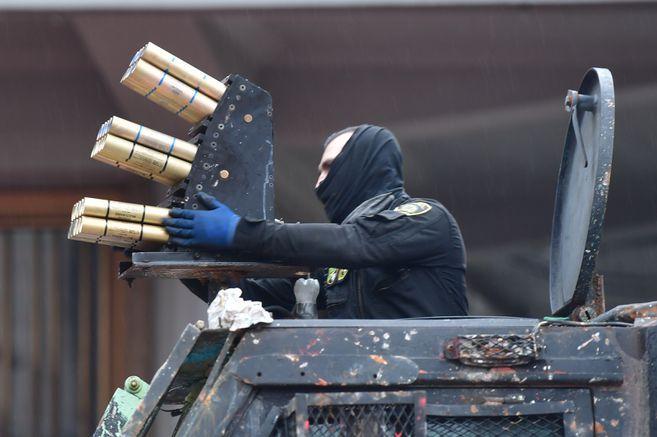 La Policía colombiana emplea el sistema lanzagranadas Venom en las protestas de la última semana